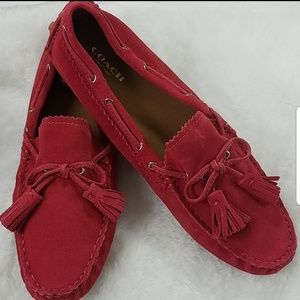 Coach 'Nadia' Sz 9.5 Loganberry Driving Moccasin